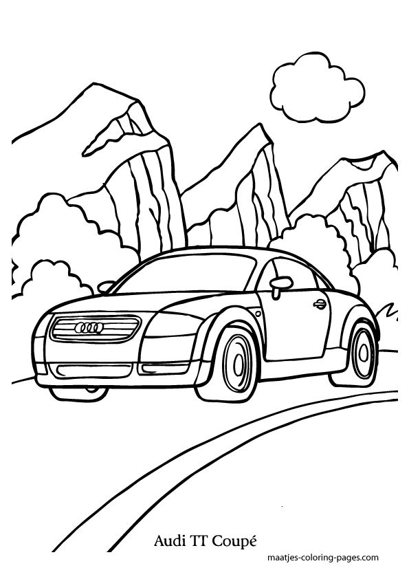 audi coloring sheets coloring pages