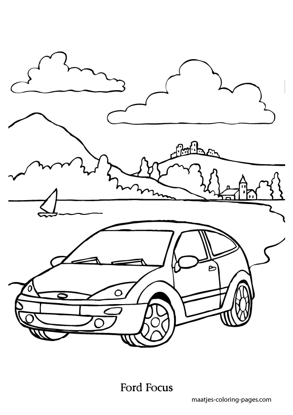 pin ford focus coloring page on pinterest