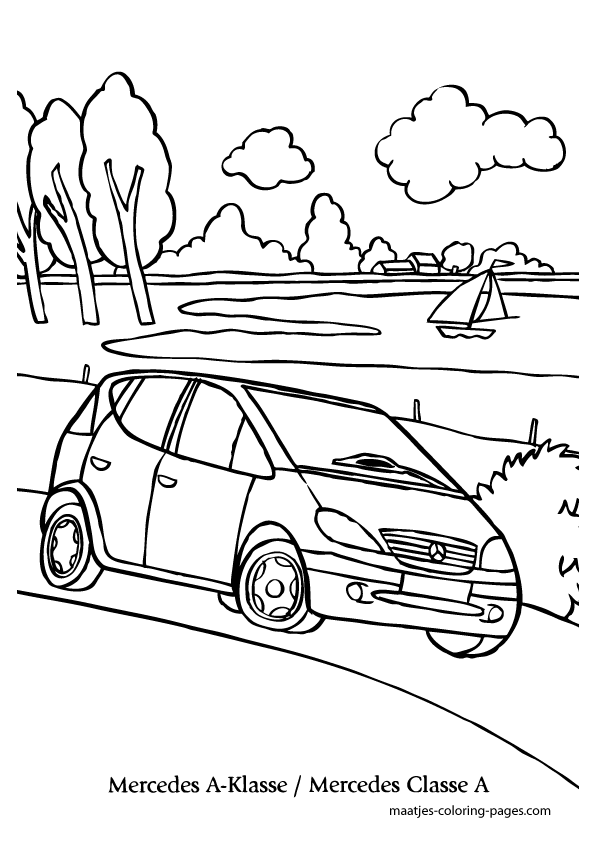 Mercedes a coloring page for Coloring pages mercedes
