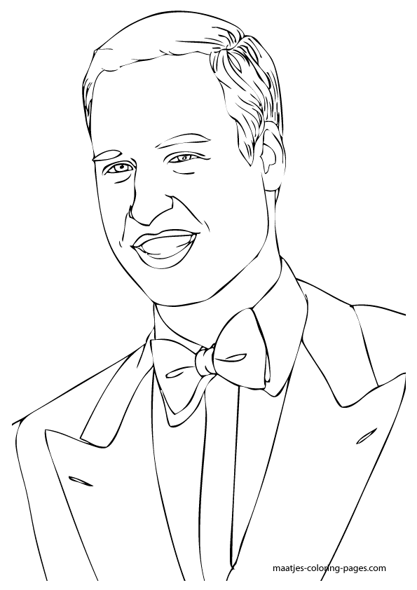 Prince William colouring page