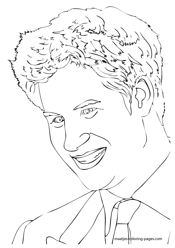 Prince Harry colouring page