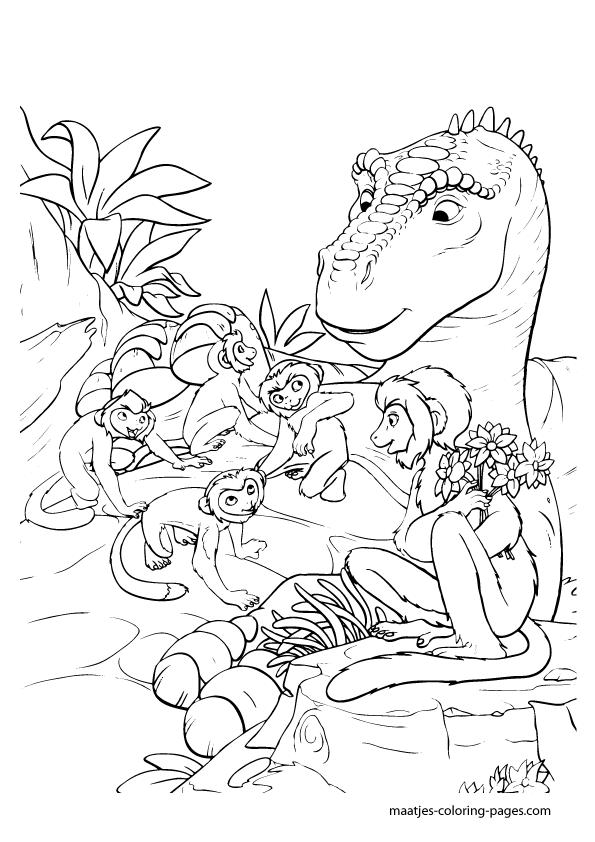disney dinosaur coloring pages - photo#11