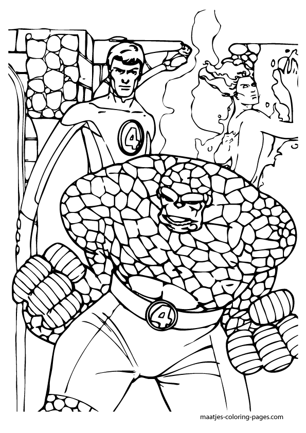 coloring pages fantastic four - photo#33