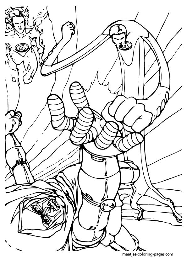 coloring pages fantastic four | Fantastic Four coloring pages