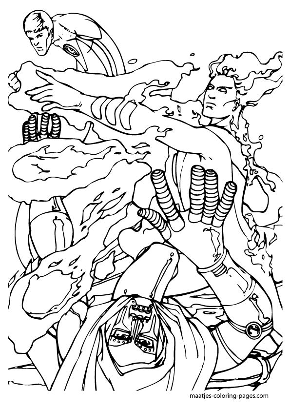 Four stretch fantastic coloring pages coloring pages for Fantastic four coloring pages