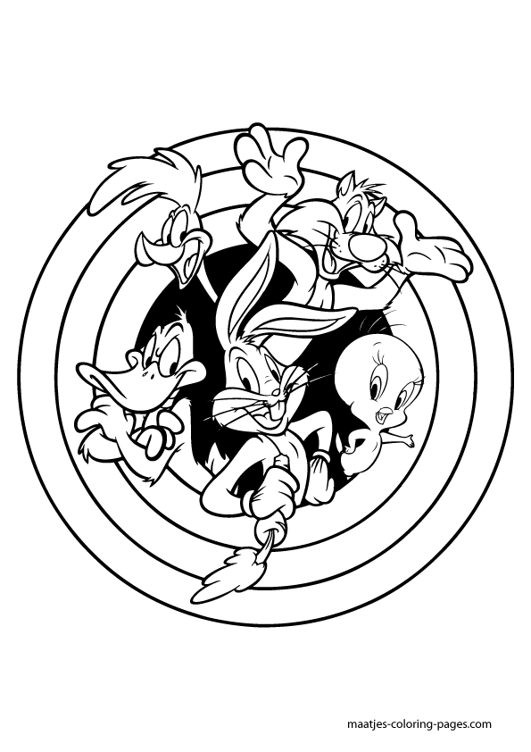 looney tunes coloring book pages - photo#22