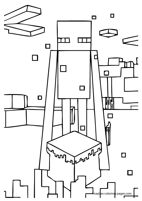 Minecraft Village Coloring Pages Png Minecraft Enderman