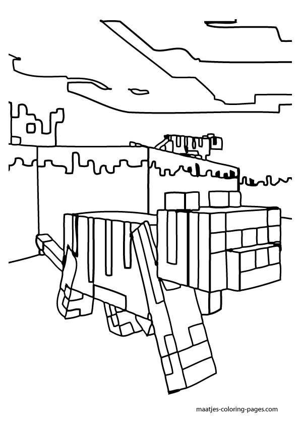 minecraft ocelot to coloring pages - photo#9