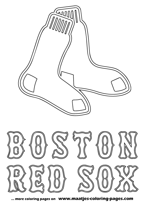 Boston Red Sox MLB coloring pages
