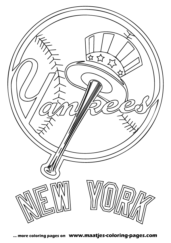 New York Yankees MLB coloring pages