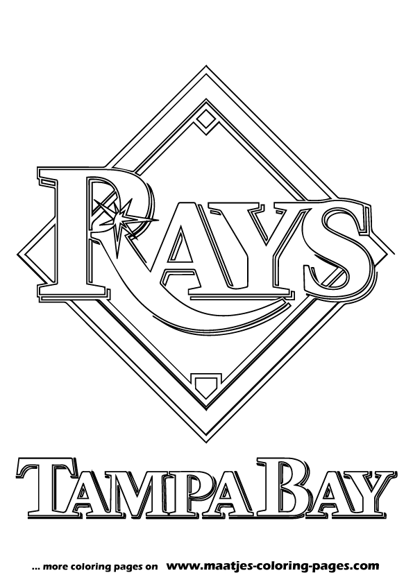 Tampa Bay Rays MLB coloring pages