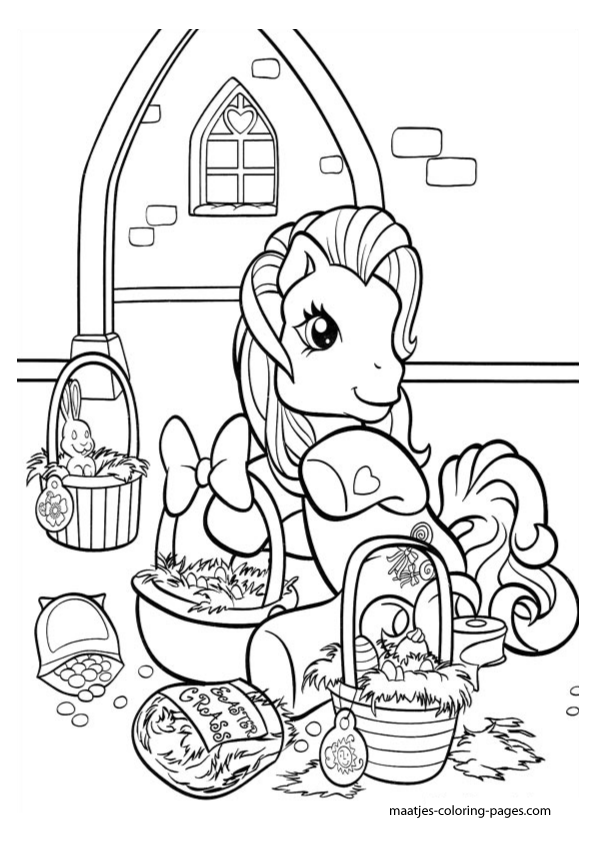 My Little Pony Easter Coloring Pages : My little pony easter coloring pages