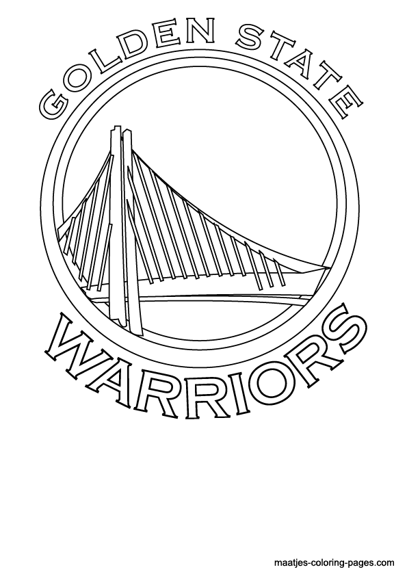 Golden State Warriors Logo Coloring Page Free Printable Nba Coloring Pages