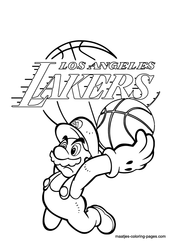 Los Angeles Lakers NBA coloring pages