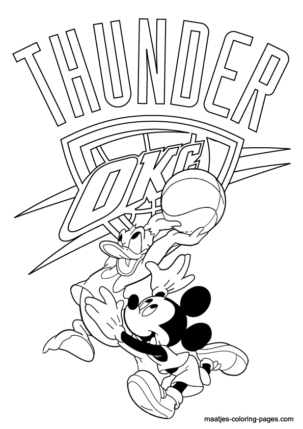 Oklahoma City Thunder NBA coloring pages