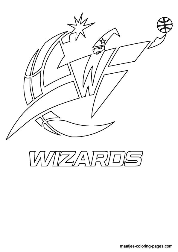 NBA Washington Wizards Logo Coloring Pages