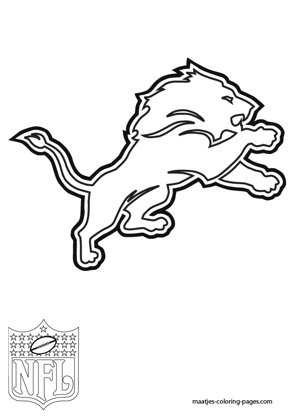 Lions football pages coloring pages for Nfl coloring pages
