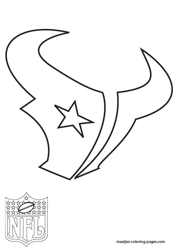 Houston texans coloring pages for Nfl logos coloring pages