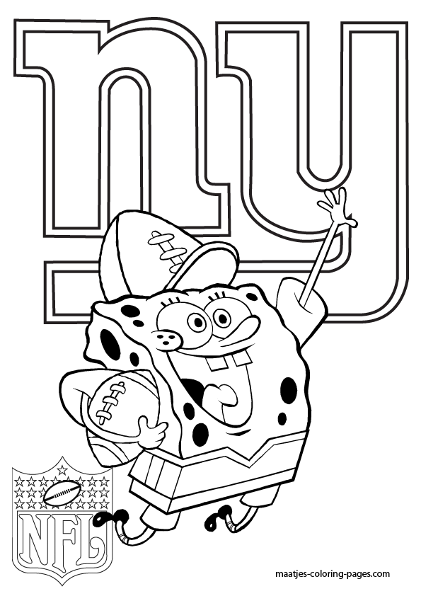giants football coloring pages - photo#5