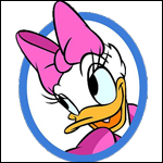 Daisy Duck coloring pages for girls