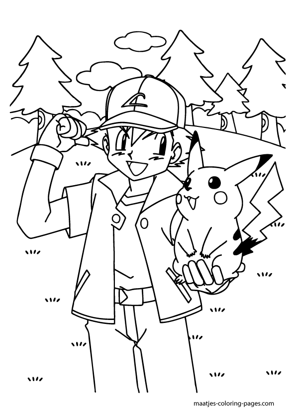 Ash greninja coloring page coloring pages for Ash and pikachu coloring pages