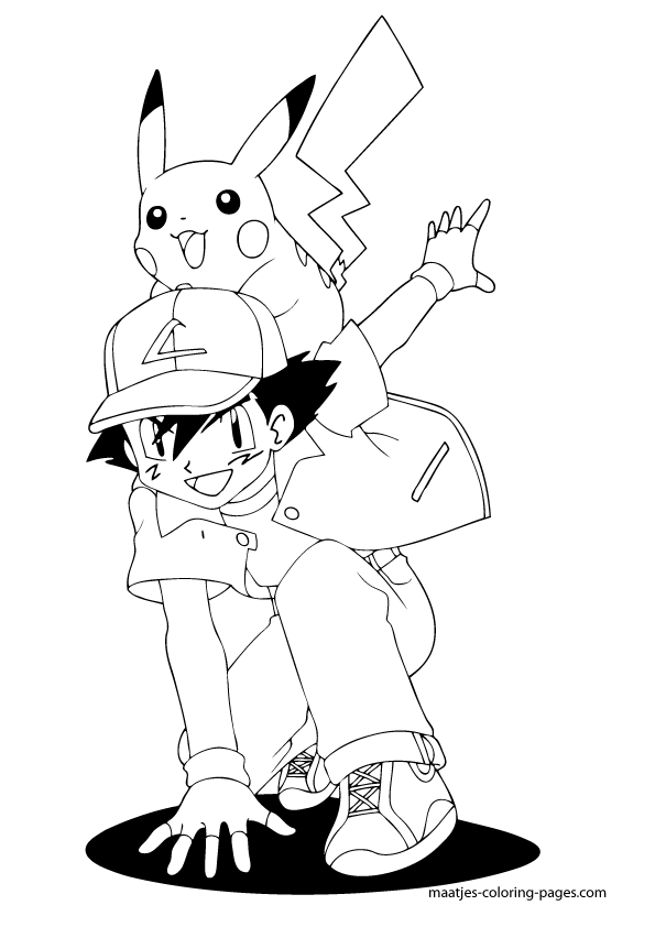 ash ketchum coloring pages - photo#28