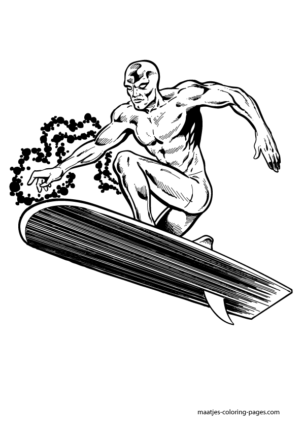 Silver Surfer Coloring Pages