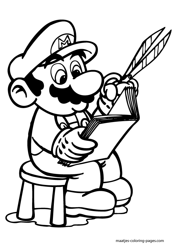 Super Mario loves crafting