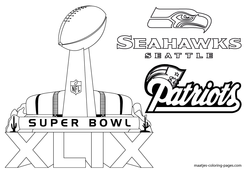 Super Bowl New England Patriots and Seattle Seahawks
