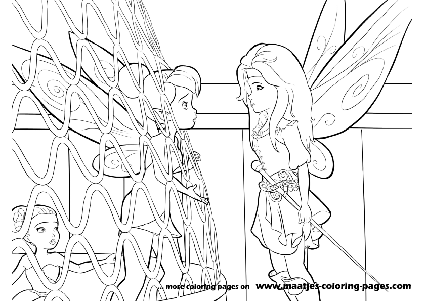 The Pirate Fairy Coloring Pages
