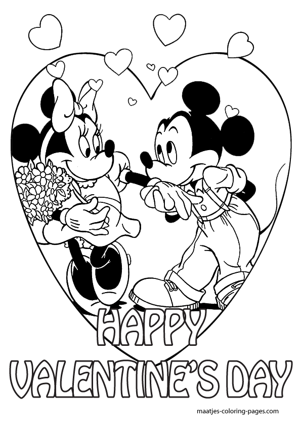 mickey mouse valentines day coloring pages mickey mouse valentines day coloring pages for kids