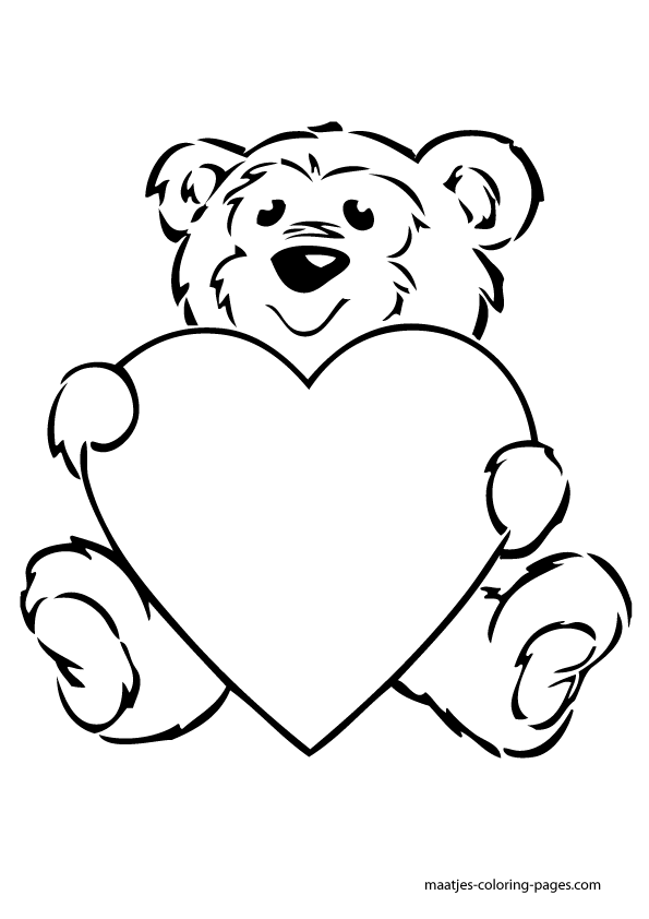 pre school valentine coloring pages - photo #27
