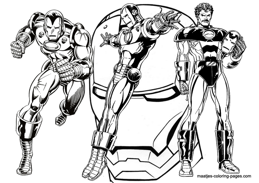 Maatje coloring page of the week 20 for Tony stark coloring pages