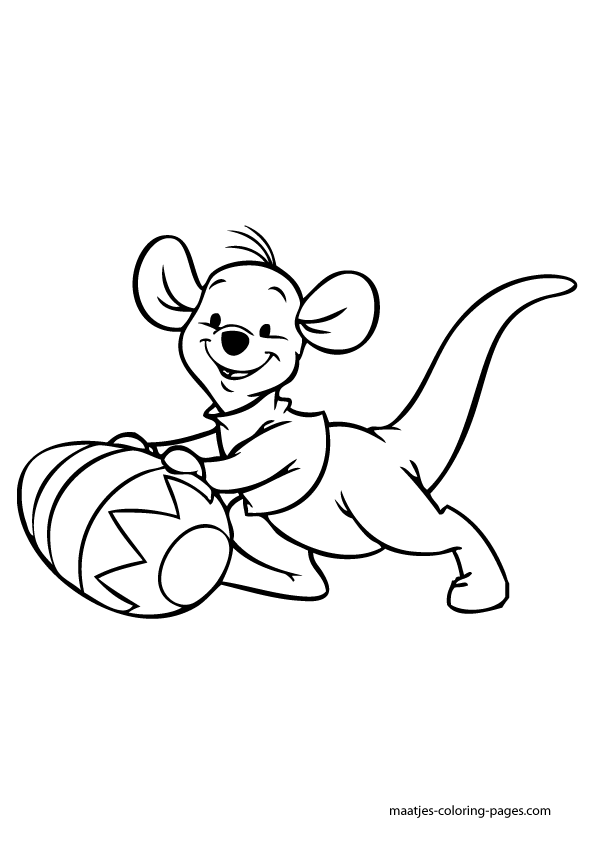 Easter Roo Winnie The Pooh Coloring Page Sketch Coloring Page