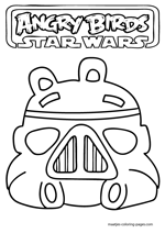 Pig as Angry Birds Star Wars Storm Trooper