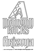 Arizona Diamondbacks MLB Coloring Pages