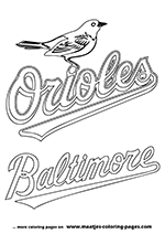 Baltimore Orioles Logo MLB Coloring Pages