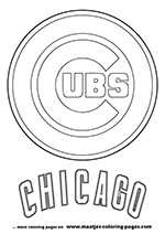 Chicago Cubs Logo MLB Coloring Pages