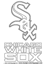 Chicago White Sox MLB Coloring Pages