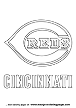 Cincinnati Reds MLB Coloring Pages