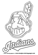 Cleveland Indians MLB Coloring Pages