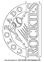 Colorado Rockies MLB Coloring Pages