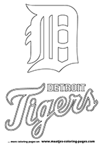 Detroit Tigers MLB Coloring Pages