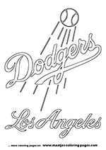 Los Angeles Dodgers MLB Coloring Pages