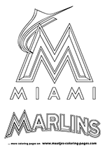 Miami Marlins MLB Coloring Pages