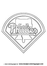 Philadelphia Phillies MLB Coloring Pages