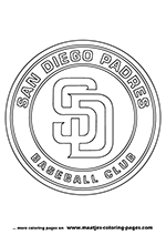 San Diego Padres MLB Coloring Pages