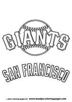 San Francisco Giants MLB Coloring Pages