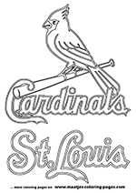 St. Louis Cardinals MLB Coloring Pages