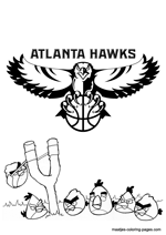 Atlanta Hawks Angry Birds coloring pages